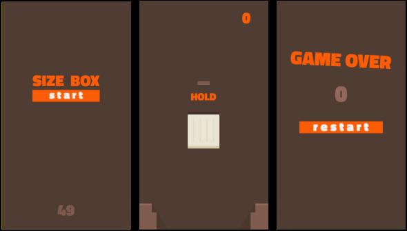 Box size game screen