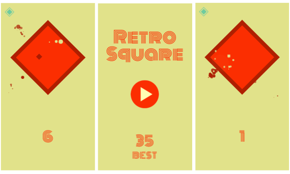 Retro Square Game - stress relief games for work